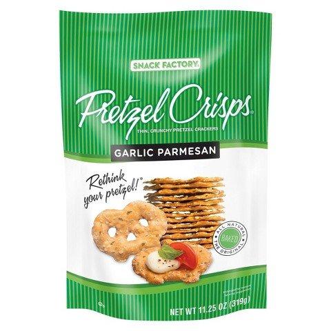 Pretzel Crisps Garlic Parmesan Pretzel Crackers 11.25 oz