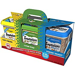 Temptations Cat Treats Club Value Pack 3 lbs. (3 flavors, 1 lb. canisters)