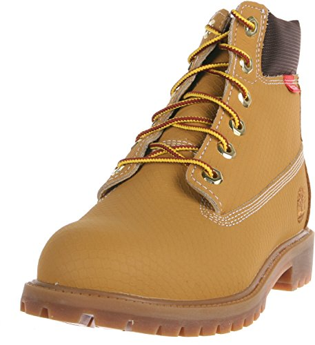 Timberland 6-Inch Premium Scuff Rebar Boot (Toddler/Little Kid/Big Kid),Wheat,6.5 M US Big Kid