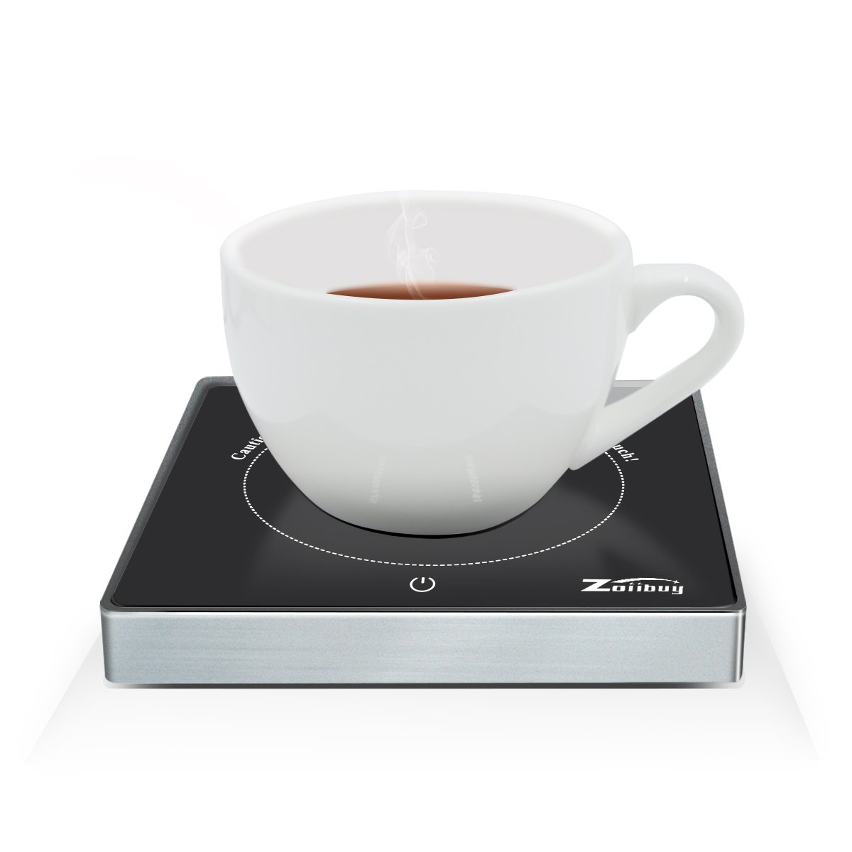 Zoiibuy Mug Cup Warmer(Coffee,Tea,Milk), Electric Cup Beverage Warmer for Home & Office Use, Heater Surface Warmer to 131℉ (1.4M Wire)