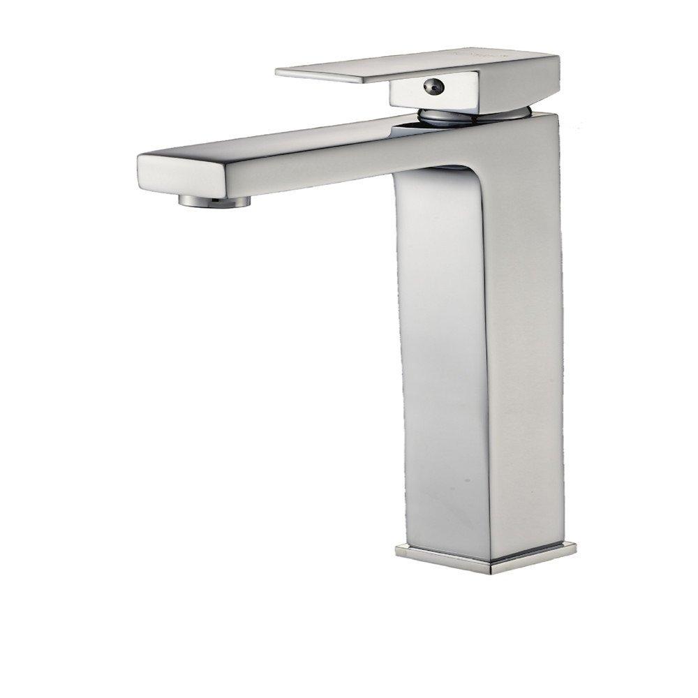 Hlluya Wasserhahn für Waschbecken Küche Die Höhe Einzelne Bohrung und kalten Wasserhahn