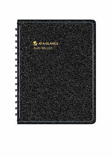 AT-A-GLANCE Auto Mileage Log Record Book, 3.75 x 6.12 Inches, Black (AAG8013505) (Book Automobile Record)