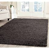 Safavieh Machine-Made Milan Shag Rug - 2 x8  / Dark Grey