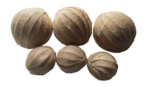 From The Attic Crafts Burlap Rag Balls Decorative Bowl Fillers 4 inch and 2.5 inch set of 6 by From The Attic Crafts (Image #6)