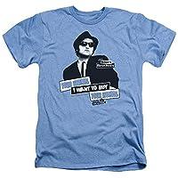 Trevco Men's Blues Brothers Short Sleeve T-Shirt, Heather Light, Medium
