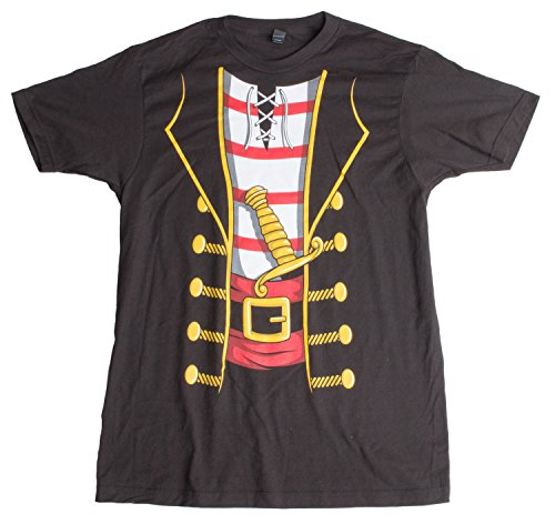 Pirate Buccanneer | Jumbo Print Novelty Halloween Costume Unisex T-shirt-Adult,L