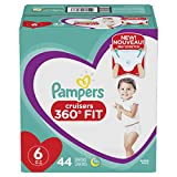 Diapers Size 6, 44 Count - Pampers Pull On Cruisers 360˚ Fit Disposable Baby Diapers with Stretchy Waistband, Super Pack