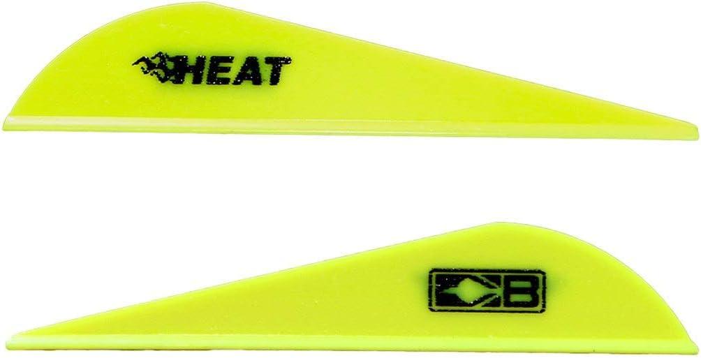 Bohning 101036NY25 Heat Vane, 2.5 Neon Yellow, 36pk