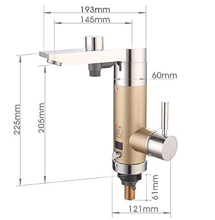 SLT 3500W Calentador de Agua Eléctrico Inmediatamente Grifo de Agua Caliente No Hay Caja de 220V