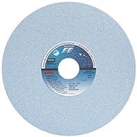 "Norton 5SG60-JVS Type 01 Vitrified Straight Toolroom Grinding Wheel, Ceramic Alumina, 8"" Diameter x 1/2"" Width, 1-1/4"" Arbor, 60 Grit, Grade J, Blue (Pack of 1)"