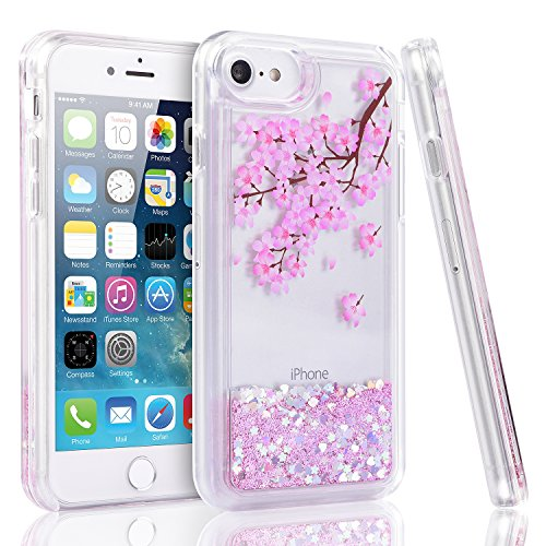 iPhone 6 Plus 6s Plus 7 Plus 8 Plus Case Flowing Liquid Protective Cover miadore Liquid Bling Sparkling Quicksand Case Fashion Design for Women Girls Girlfriend