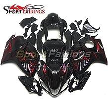 Sportfairings Motorcycle Fairing Kit For Suzuki GXS-R1300 GSX-R GSXR 1300 Hayabusa 2008 2009 2010 - 2014 2015 Fairings Injection ABS Black Red Flames