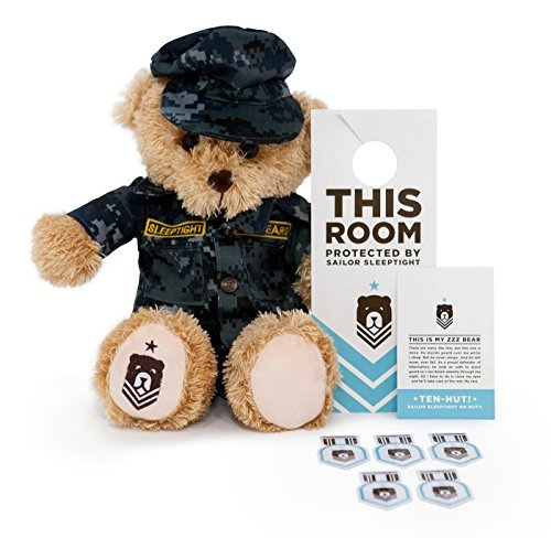 Bear Navy Teddy (ZZZ Bears Sailor Sleeptight U.S. Navy Teddy Bear and Military Grade Sleep System)