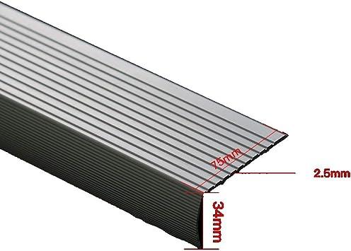 Perfil de transición Paquete De 3 Aleación De Aluminio Tira Antideslizante Para Escaleras Tira Del Piso Tira Impermeable Paso Alfombra Antideslizante Protector De Esquina De Goma Colisión: Amazon.es: Bricolaje y herramientas