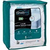Beautyrest Quilted Memory Foam Mattress Pad (White, Twin Xl)