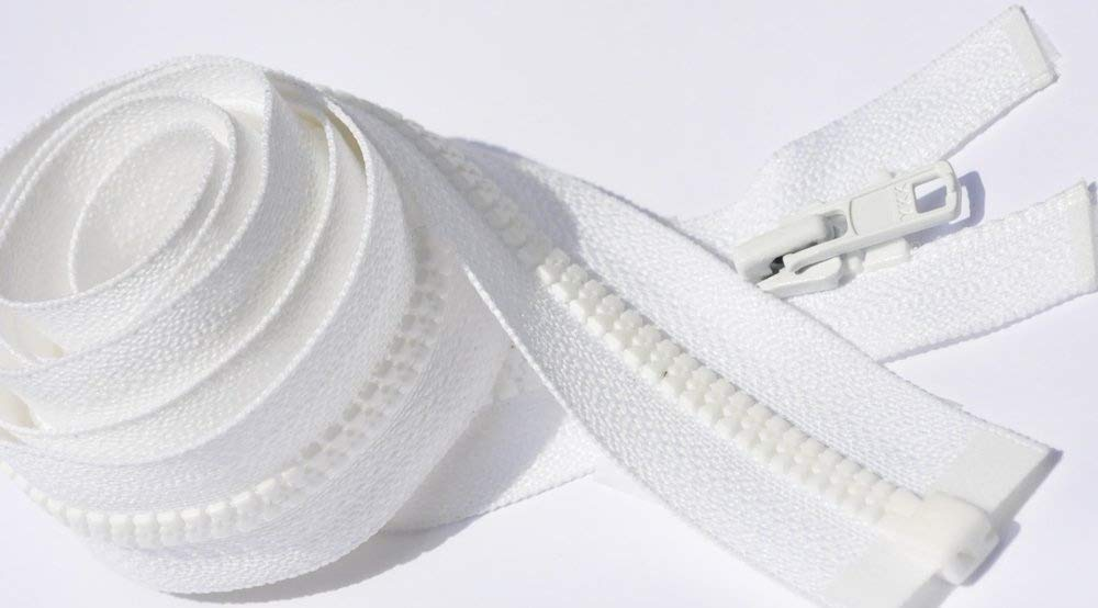 5 Zippers//pack 7-60 Long Pull Handbag Zippers YKK #4.5 Color 501 White Length 7 inch Select Length