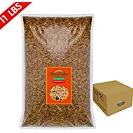 FROLIC WINGS 11 lbs Mealworms, 100 Percent Non-GMO Dried Delicious Mealworms Treats for Chickens, Wild Birds, Fish, Reptiles