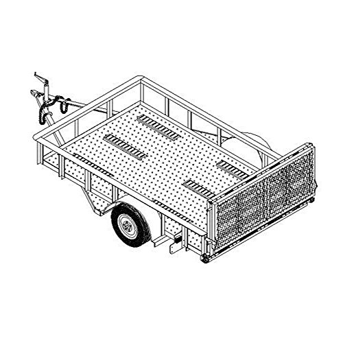 6' x 10' Motorcycle/Utility Trailer Plans Blueprints, Model 10CY