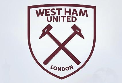ffdd6c48b9e8 Official West Ham United Football Club One Colour Crest Wall Sticker - WHU  Decal Football Vinyl