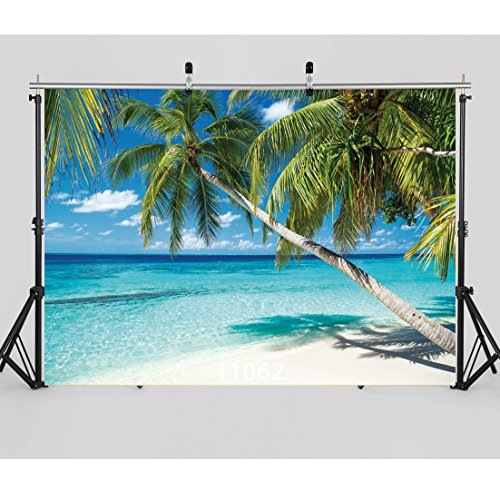 WOLADA 7x5ft Blue Ocean Photography Backdrops Vinyl Photo Backgrounds Beach Photography Wedding Backgrounds Props Backgrounds 11062 by WOLADA
