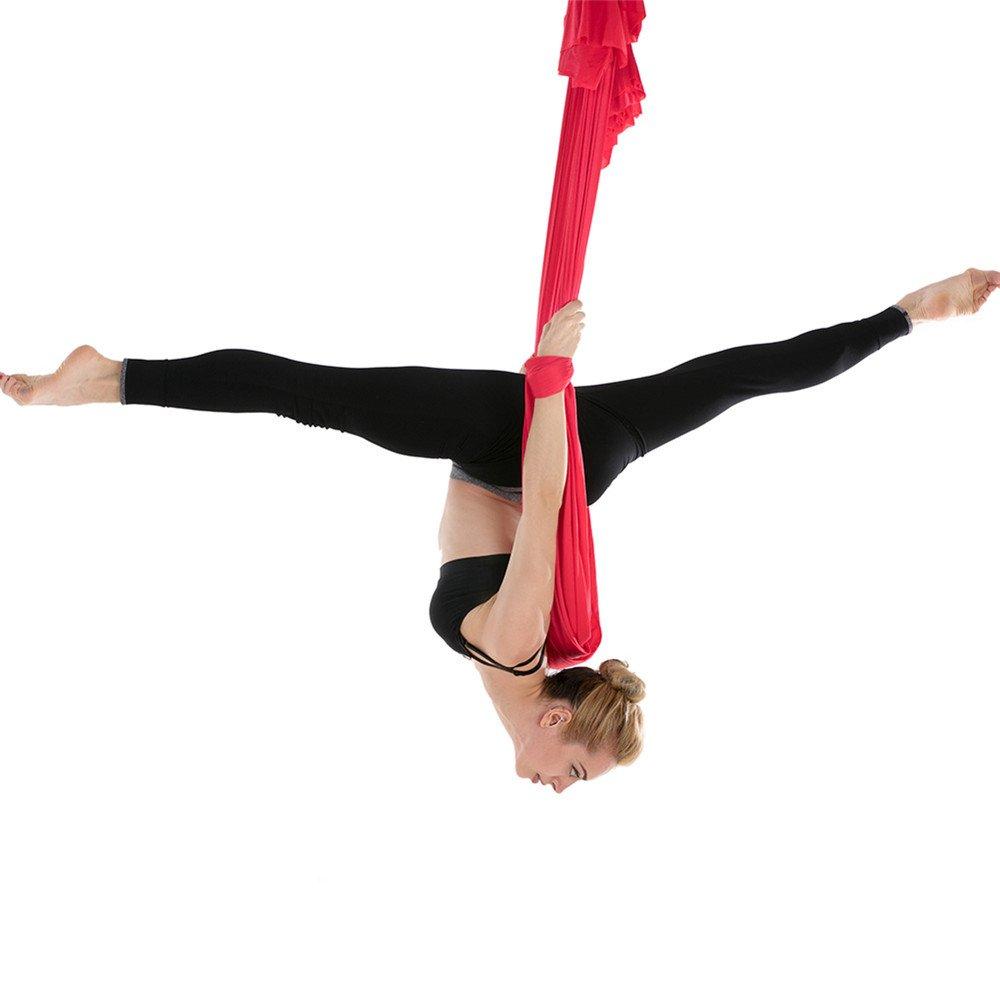 JFJL Aerial Yoga Hängematte - Verbesserte Flexibilität & Kernkraft, Inversionsübungen, Premium Aerial Silk Yoga Swing Für Antigravity Yoga- Extension Straps, Karabiner Und Top Plate Sind Inklusive Black JFJLshop