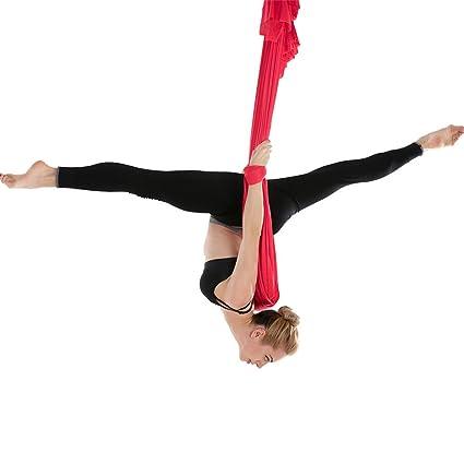 XUMENG Columpio De Yoga Aéreo, Hamaca De Yoga Trapecio, con ...