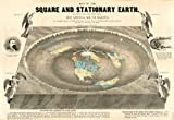 Map of the Square and Stationary Earth. Four Hundred Passages in the Bible That Condemn the Globe Theory or the Flying Earth, and None Sustain It. This Map Is the Bible Map of the World. By Orlando Ferguson Reproduction. 16.5 X 24 Inches Picture