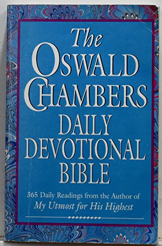 The Oswald Chambers Daily Devotional Bible - New King James Version (Chamber Spring)