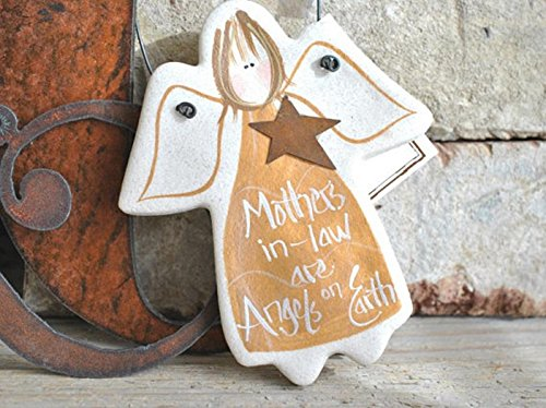 Mother's Day Mother in Law Gift Salt Dough Angel Ornament