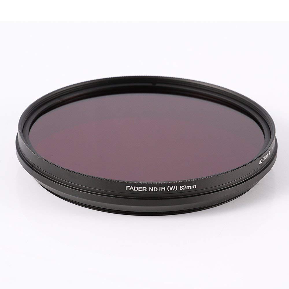 Runshuangyu 82mm 6 in 1 Infrared IR Pass X-Ray Lens Filter, Adjustable 530nm to 750nm Screw-in Filter for Canon Nikon Sony Panasonic Fuji Kodak DSLR Camera by Runshuangyu