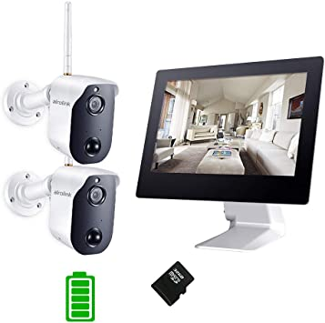 HJT 4CH POE Camera System HD 1080P Outdoor Security Network NVR 6 IR Night P2P