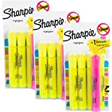 Sharpie (15 Pack) Smear Guard Highlighters Markers Yellow + Pink Chisel Home Office Supplies School
