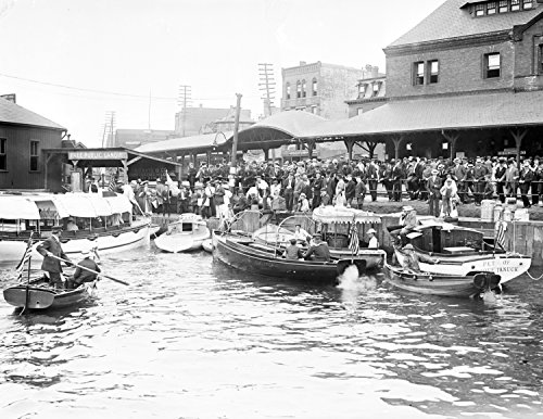 1908 Harvard - Yale Boat Race Vintage Photograph 8.5