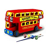 3D Puzzle Bfun Wood 3D Puzzles London Bus Toy 3D Woodcraft Kit Assemble Paint DIY Toys for Kids Adults the Best Birthday Gift Best in Activity Play Centres