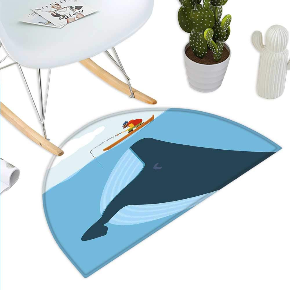 color07 H 23.6  xD 35.4  Whale Semicircle Doormat Ocean Inside of You Inspirational Typography with Big Fish Grunge Illustration Halfmoon doormats H 27.5  xD 41.3  Charcoal Grey
