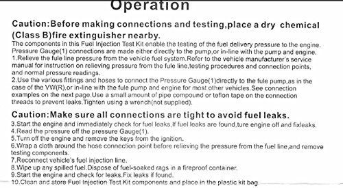 8MILELAKE Fuel Injection Pump Pressure Tester Test Kit 100 PSI 7 Bar fits for Most Cars Trucks