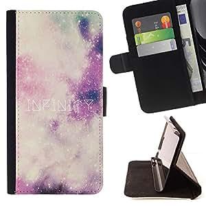 For Samsung Galaxy E5 E500 Case , Universo Espacio Estrellas Sky Limit- la tarjeta de Crédito Slots PU Funda de cuero Monedero caso cubierta de piel