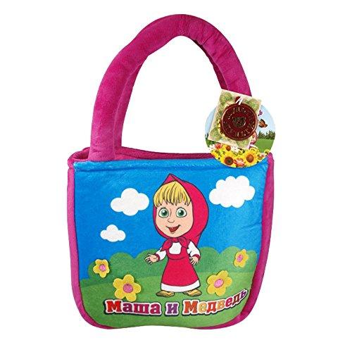 """Kindertasche aus """"Mascha und der Bär"""" Маша и Медведь aus Multi Pulti weich und kuschelig in Purpur 20cm"""