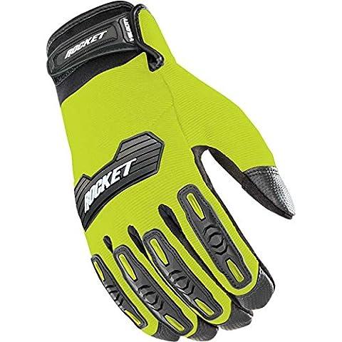 Joe Rocket Velocity 2.0 Men's Textile Street Motorcycle Gloves - Hi-Viz/Black / Large - Textile Motorcycle Gloves