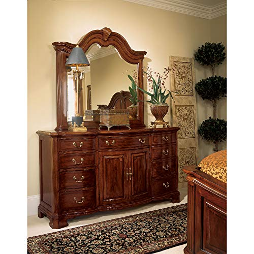 American Drew Bob Cherry Grove Landscape Mirror and Dresser ()