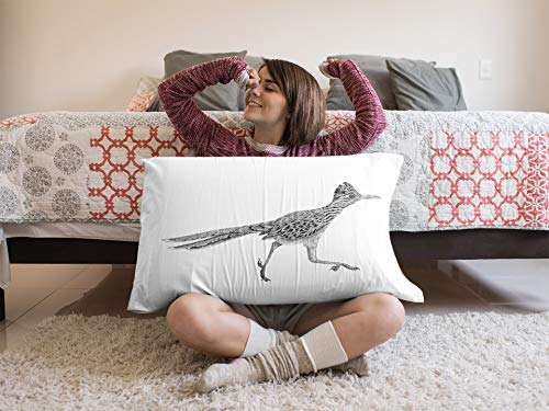 (ROADRUNNER pillowcase, New Mexico Wildlife, Desert Animal, Southwest Design, Albuquerque, Southwest decor, wildlife, wall hang, pillow case)
