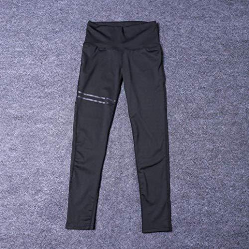 Alta Vertical Moda Fit Con Elástico Jogging Cintura Pantalones Huixin Stretch Cordón Slim Casuales De Raya Negro Mujer n61BgzBP