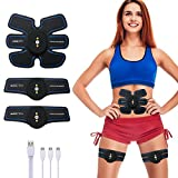 CHARMINER Muscle Toner, Abdominal Toning Belt,Portable Abs Muscle Trainer Ab Belt Wireless Body Workout Fitness Equipment For Men Women
