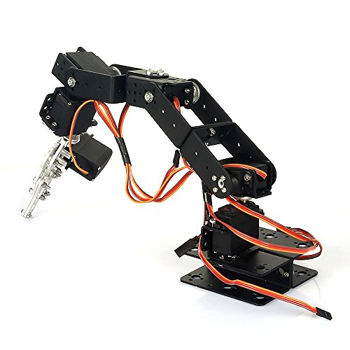 SainSmart 6-Axis Mechanical Desktop Robotic Arm, Frame & Servo Kit for Arduino