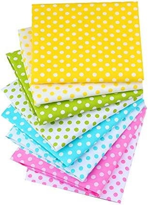 8pcs / Batch 40 x 50cm NO Repeat Design Printed Floral Cotton Fabric Suitable for Stitching, Sewing Paper Towels to Stitching (Dot Series)