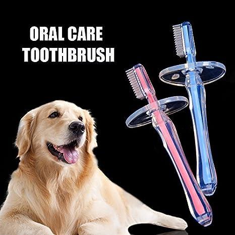 Bargain World Perro de Mascota Cepillo de Dientes de Cuidado Oral Quitar el sarro de Dientes Gato Perro Cuidado de Limpiar la Preparaciã³n del Perro: ...