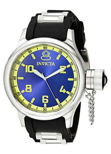 Steel Buckle Dial Stainless (Invicta Men's 1434 Russian Diver Blue Dial Stainless Steel Watch)