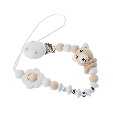 Fivekim Blanco Bebé Chupete Clip Chupete Cadena Panda Forma ...