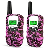 DIMY 3-12 Year Old Girl Gifts, Stocking Stuffer Walkie Talkies for Kids Best Outdoor Fun Toys for 3-12 Year Old Girls Boys Toys for Kids Outdoor Toys for Kids 2018 Christmas New Gifts Pink DMDJJ09