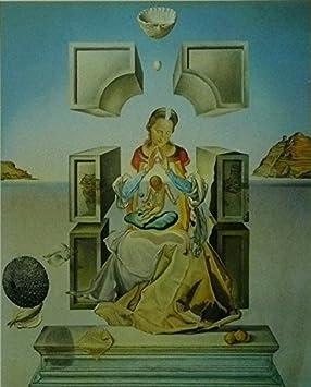 Primer estudio para la Madonna of Port Lligat (1949) - Salvador Dali - cuadro con marco - 11 x 14: Amazon.es: Hogar